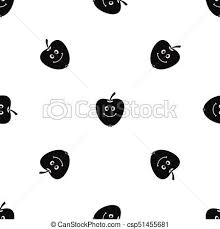 Apple Pattern Enchanting Smiling Apple Pattern Seamless Black Smiling Apple Pattern Repeat