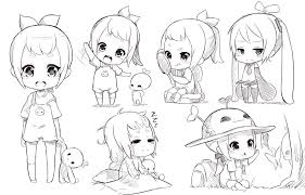 anime chibi drawing hair. Exellent Anime Chibi Sketch By FukaEnriquedeviantartcom On DeviantArt For Anime Drawing Hair