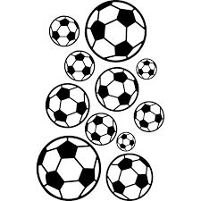 Nástěnná Samolepka Na Zeď Sport Fotbal Fotbalové Míče 146