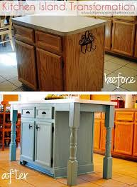 rustic homemade kitchen islands 11