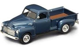 Amazon.com: 1950 GMP Pickup Truck Dark Blue 1/43 Diecast Model Car ...