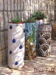 pvc pipe mosaic planter