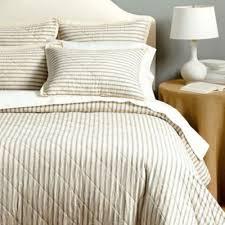 Ticking Stripe Quilted Bedding | Ballard Designs &  Adamdwight.com