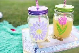 what you need mason jars straws glass safe paint stencils of