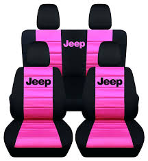 pink and black seat cover front rear black and hot pink jeep seat covers jeep wrangler pink and black seat cover
