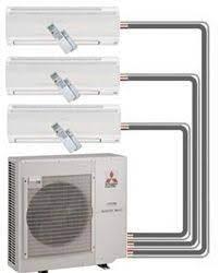 Mitsubishi Mr Slim Ductless Mini Split Heat Pump Solar Air Conditioner Heating And Air Conditioning Mitsubishi Air Conditioner
