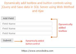 dynamically add elements using jquery