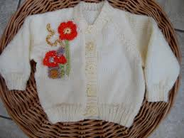 Hand Knitted Sweaters Designs For Baby Girl Hand Knitted Baby Girls Cardigan Sweater Personalised With