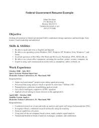 How To Write A Resume For A Federal Job Nice Federal Government