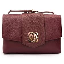 handbags elegant maroon animal print leather handbag for women ripani italy in
