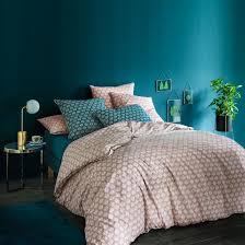 Éventail vintage print cotton duvet cover print la redoute interieurs la redoute
