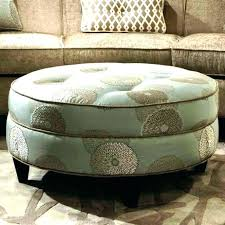 leather round coffee table round upholstered coffee table contemporary large circle ottoman amazing tufted org in