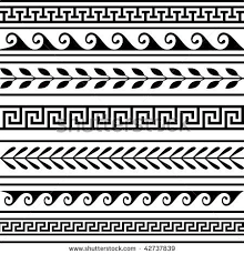 Border Patterns Fascinating Roman Border Patterns Set Of Geometric Borders Designs For Sewing