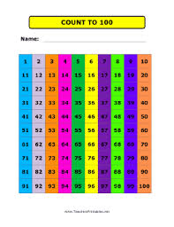 This Free Printable Count To 100 Chart Is Pretty And Bold