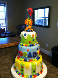Baby Boy First Birthday Cake Ba Boy First Birthday Circus Cake