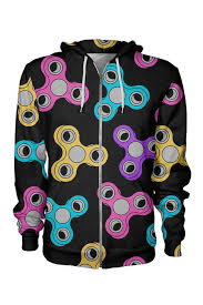 Fidget Spinner Pattern Best Fidget Spinner Pattern Handmade Zip Hoodie All Over Shirts