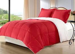 red velvet comforter 3 piece red comforter set