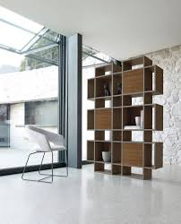 contemporary bookcase  wooden  lacquered wood  plaza