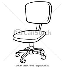 chair clipart black and white. vector - black and white computer chair clipart