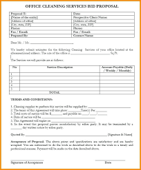 Bid Proposal Templates Best Sample Bid Proposal Template Cleaning Quotation Quote Australia 48