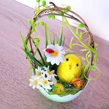 Яйцата също са много шарени, използвах техника със салфетка. Velikdenska Ukrasa Pile V Koshnichka Ot Yajce Dekoraciya Za Velikden 17sm Aksesoari Za Doma