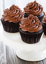 chocolate cupcakes with chocolate icing.  Chocolate Double Chocolate Cupcakes Are Loaded With Chocolate Flavor Add  Sprinkles For A Trifecta And With Icing T