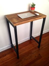 the monterey standing desk reclaimed wood steel arc timber pertaining to plans 0