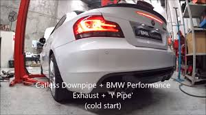 Coupe Series bmw 135i exhaust : BMW 135i Performance Exhaust + Downpipe compilation - YouTube
