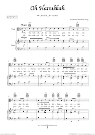 hanukkah songs collection chanukah songs sheet for viola and piano clical score