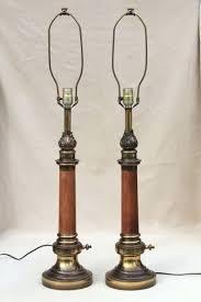 stiffel floor lamps. Stiffle Lamps Pair Mid Century Vintage Solid Brass Wood W Three Way Switch Stiffel Lamp Shades Floor