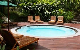above ground pool with deck and hot tub. Circular Pools Formula Above Ground Pool With Deck And Hot Tub