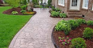 flagstone walkway ideas. concrete sidewalk stamped cobble stone walkways qc construction products madera ca flagstone walkway ideas