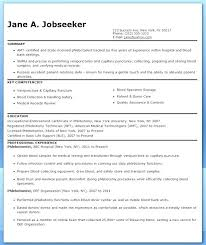 Phlebotomy Resume Templates Phlebotomy Resume 2018 Free Professional