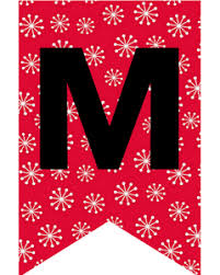 Letter For Banner Free Merry Christmas Flag Letters Banners Cute Freebies For You