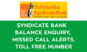 Syndicate Bank Syndicate Bank Balance Enquiry Missed Call Alerts Toll