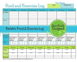 Food And Exercise Diary Bariatric Surgery Weekly Food Exercise Tracker Weigh Loss Journal Diet Log Weight Loss Diary Nutrition List Exercise Tracker Journal
