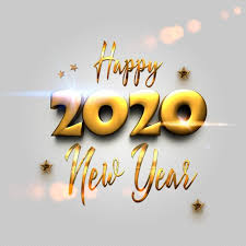 Golden <b>Happy New Year</b> 2020 With Abstract Bokeh And Lens Flare ...