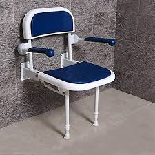 multifunction bathroom folding shower seat wall mounted with back and armrest height adjule specifically for the elderly pregnant women disabled