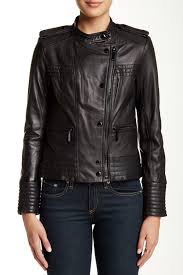 vince camutogenuine lambskin leather moto jacket