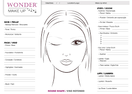 round face shape free of face charts by wondermakeup created for for all shape of woman s face