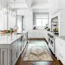 White kitchen dark wood floor Two Tone Kitchen Large Transitional Kitchen Ideas Inspiration For Large Transitional Brown Floor And Dark Wood Floor Houzz 75 Most Popular Dark Wood Floor Kitchen Design Ideas For 2019