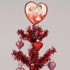 valentine tree topper red