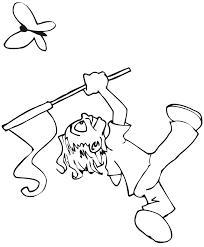 Small Picture Butterfly Coloring Page Kids Chasing Butterfly