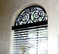 wrought iron window treatment faux arched decor inserts diy tableaux