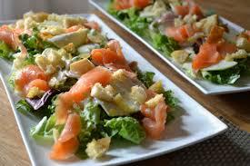 Zomerse salade met vis