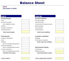 Basic Balance Sheet Template Excel Simple Balance Sheet Template Free
