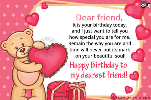 birthday sms for friend