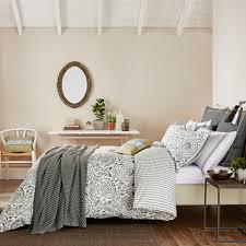 granite grey paisley pattern bedding  echo kamala at bedeck