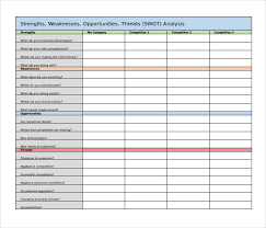 45 Swot Analysis Template Word Excel Pdf Ppt Free