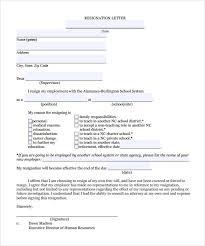 Teacher Resignation Letters Resume Cv Cover Letter